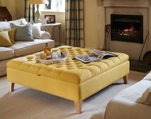 Footstool Workshop - Yellow - Beautiful Heirloom Home
