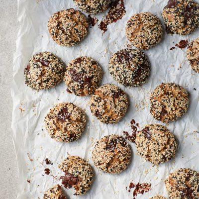 Tahini Choc Chip Cookies by Melissa Hemsley